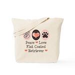 Peace Love Flatcoat Tote Bag