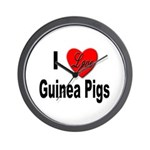 I Love Guinea Pigs Wall Clock