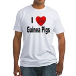 I Love Guinea Pigs (Front) Fitted T-Shirt