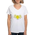 Chicks Rule Women's V-Neck T-Shirt