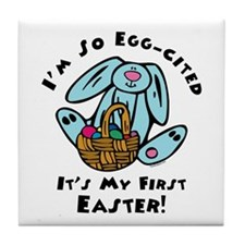 Eggcited 1st Easter Tile Coaster