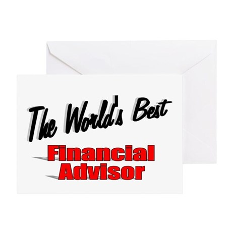 """The World's Best Financial Advisor"" Greeting Card"