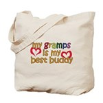 Gramps is My Best Buddy Tote Bag