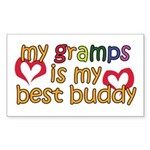 Gramps is My Best Buddy Rectangle Sticker