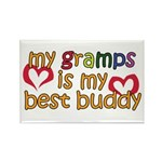 Gramps is My Best Buddy Rectangle Magnet