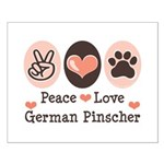 Peace Love German Pinscher Small Poster