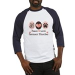 Peace Love German Pinscher Baseball Jersey