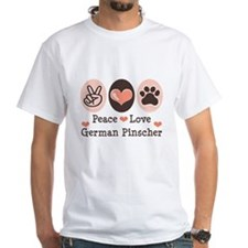 Peace Love German Pinscher Shirt
