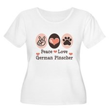 Peace Love German Pinscher T-Shirt