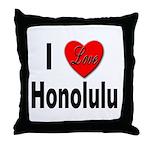I Love Honolulu Throw Pillow