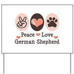 Peace Love German Shepherd Yard Sign