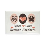 Peace Love German Shepherd Rectangle Magnet (10 pa