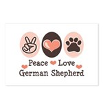 Peace Love German Shepherd Postcards (Package of 8
