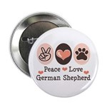 Peace Love German Shepherd 2.25