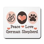 Peace Love German Shepherd Mousepad