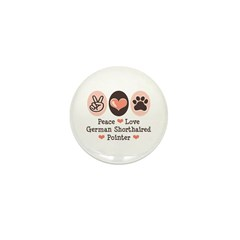 Peace Love G Shorthaired Pointer Mini Button (10 p