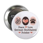 Peace Love G Shorthaired Pointer 2.25