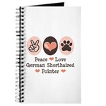 Peace Love G Shorthaired Pointer Journal