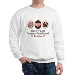 Peace Love G Shorthaired Pointer Sweatshirt