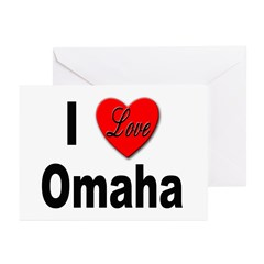 I Love Omaha Greeting Cards (Pk of 10)