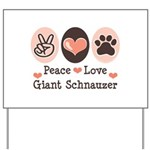 Peace Love Giant Schnauzer Yard Sign