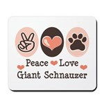 Peace Love Giant Schnauzer Mousepad