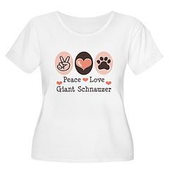 Peace Love Giant Schnauzer Women's Plus Size Scoop