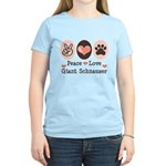 Peace Love Giant Schnauzer Women's Light T-Shirt