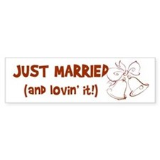 Just Married Bumper Bumper Sticker