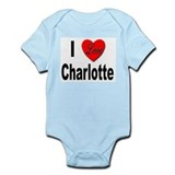 I Love Charlotte Infant Creeper