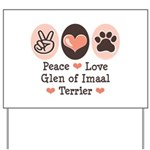 Peace Love Imaal Terrier Yard Sign