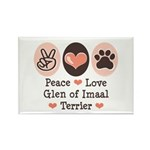 Peace Love Imaal Terrier Rectangle Magnet (10 pack