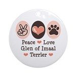 Peace Love Imaal Terrier Ornament (Round)