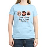 Peace Love Imaal Terrier T-Shirt