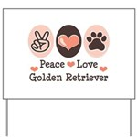 Peace Love Golden Retriever Yard Sign