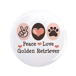 Peace Love Golden Retriever 3.5