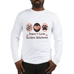 Peace Love Golden Retriever Long Sleeve T-Shirt