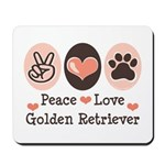 Peace Love Golden Retriever Mousepad