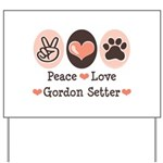 Peace Love Gordon Setter Yard Sign