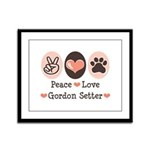 Peace Love Gordon Setter Framed Panel Print