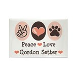 Peace Love Gordon Setter Rectangle Magnet (10 pack