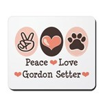 Peace Love Gordon Setter Mousepad