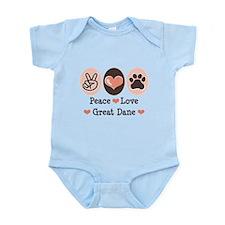 Peace Love Great Dane Infant Bodysuit