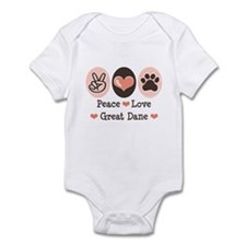 Peace Love Great Dane Infant Bodysuit
