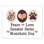 Peace Love Swiss Mt Dog Small Poster