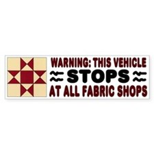 Quilters Bumper Car Sticker