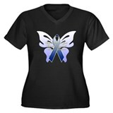 COLON CANCER Women's Plus Size V-Neck Dark T-Shirt