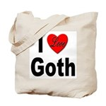 I Love Goth Tote Bag