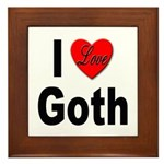 I Love Goth Framed Tile