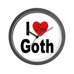 I Love Goth Wall Clock